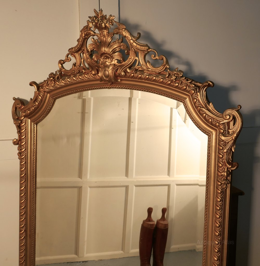 Antiques atlas a large 19th century french gilt wall mirror for French mirror