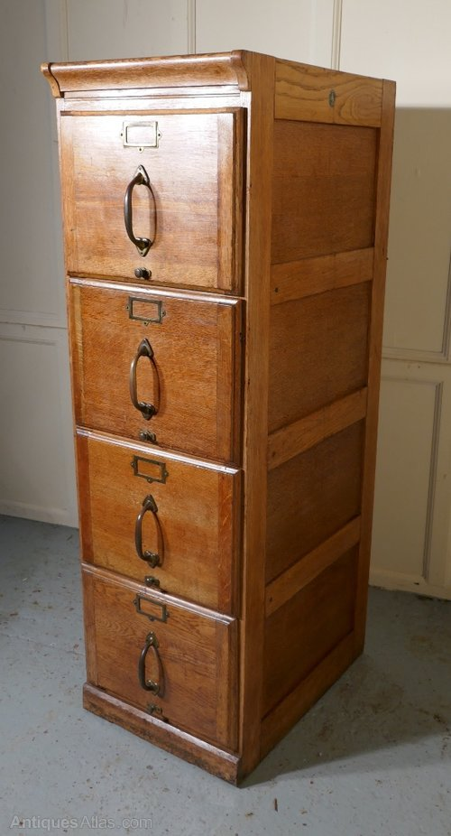 antique filing cabinet a large deco 4 drawer oak filing cabinet antiques atlas 10641