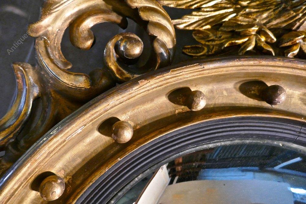 Antiques Atlas A Large Regency Convex Gilt Wall Mirror