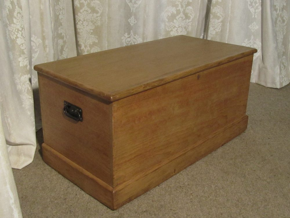 A Large Victorian Pine Blanket Box Or Coffee Table