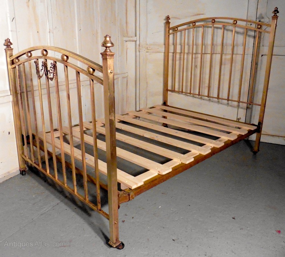 Awesome A Lovely Victorian Brass Double Bed Antique Brass Beds