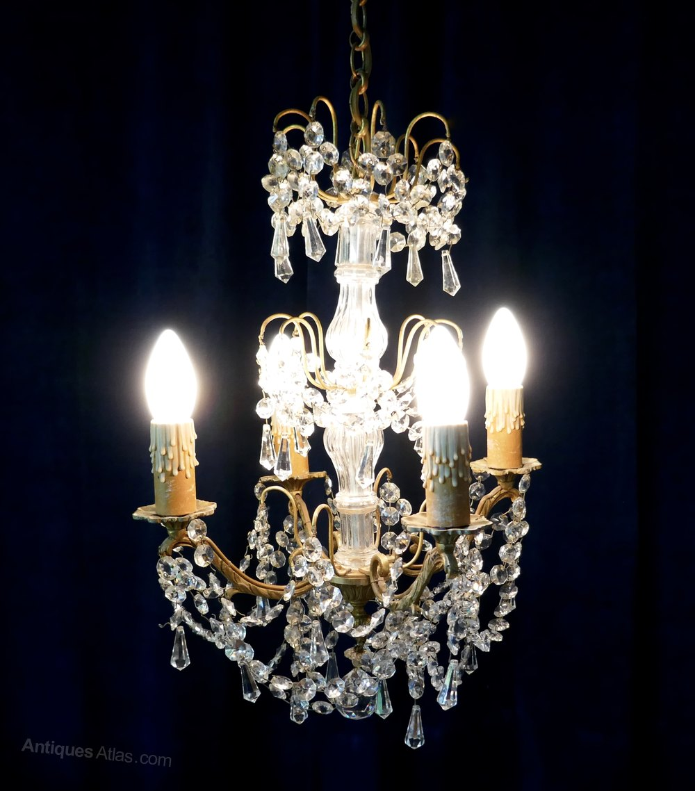 Antiques Atlas A Stunning 4 Branch Chandelier By Lucien