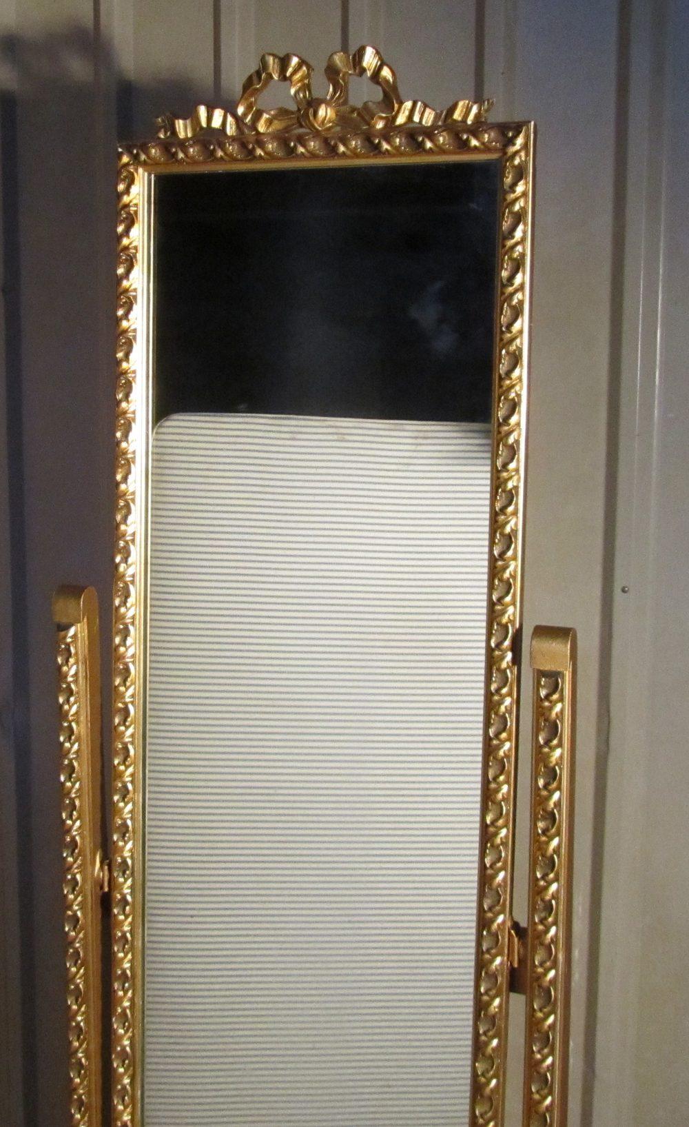 A Superb Rococo Gilt Cheval Dressing Mirror Antique Mirrors