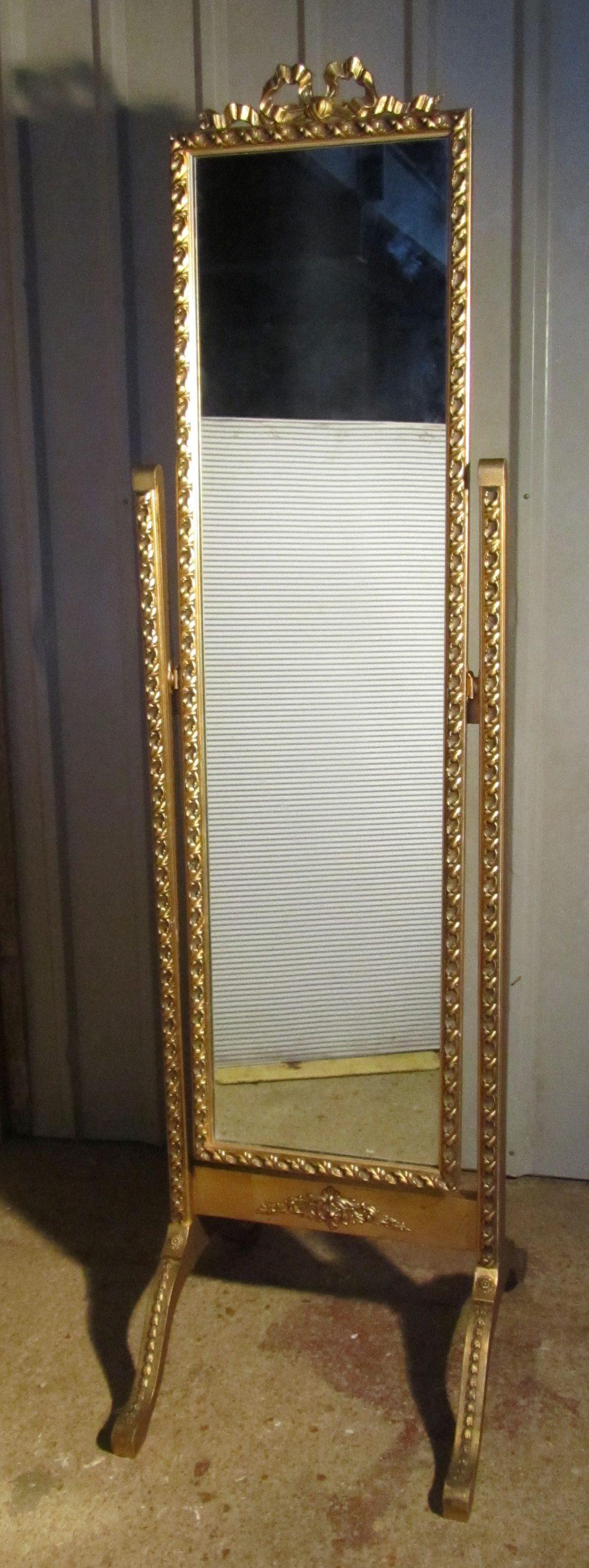 A Superb Rococo Gilt Cheval Dressing Mirror