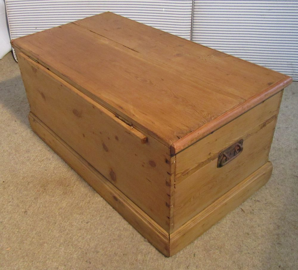 Victorian Pine Coffee Table: A Victorian Pine Blanket Box Or Coffee Table