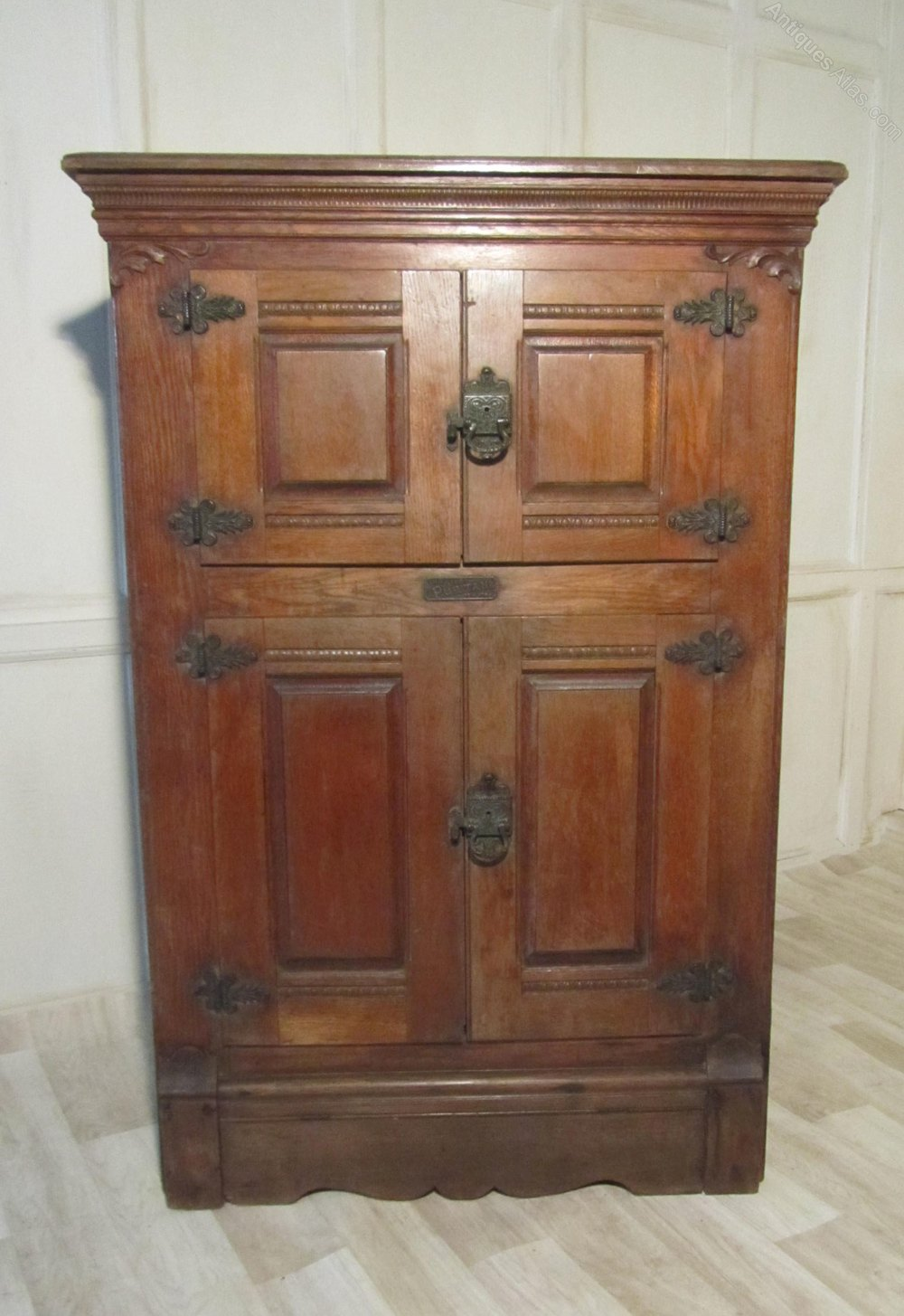 American Vintage Wooden Refrigerator Or Ice Box Antiques