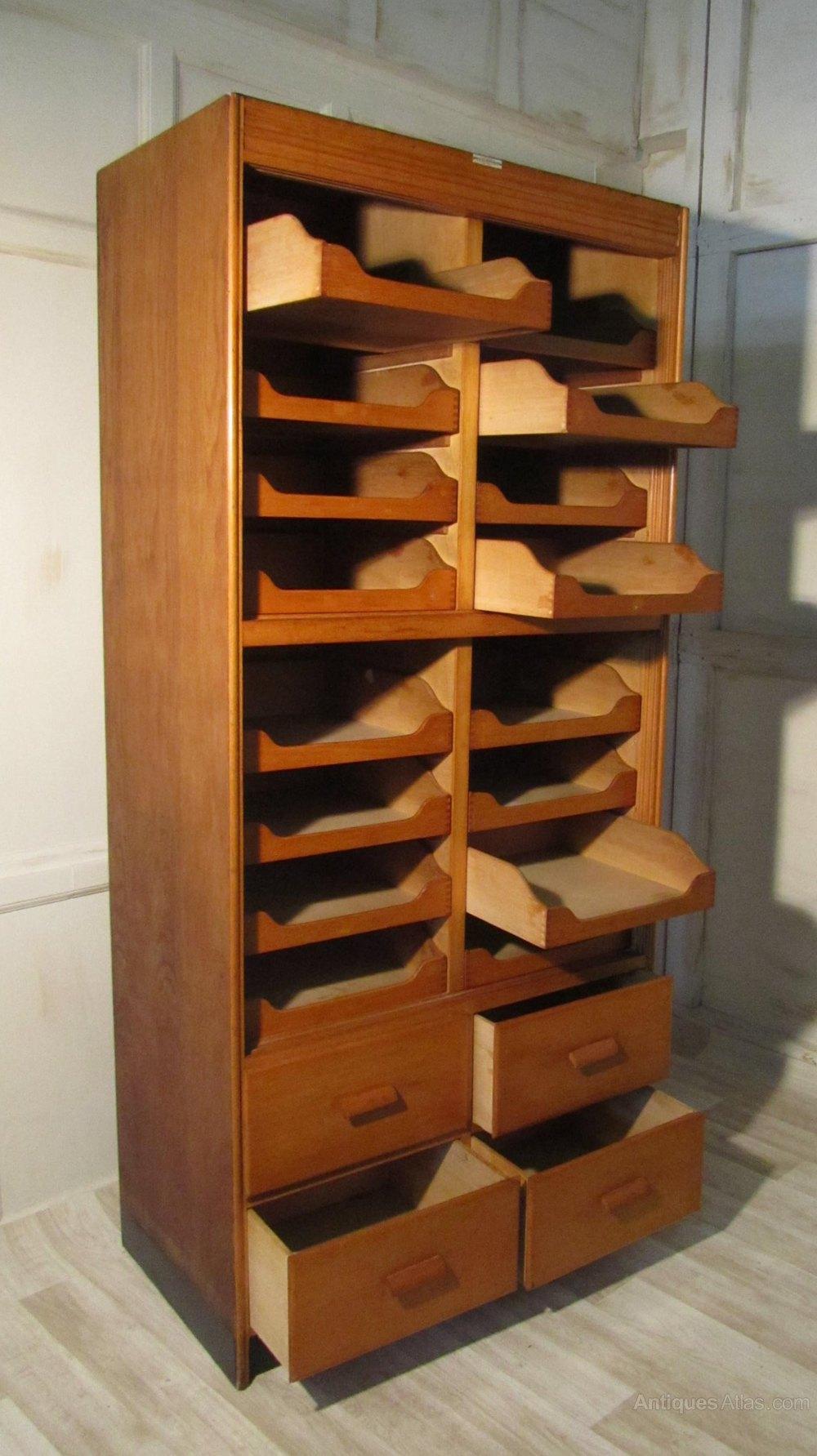 Art Deco Haberdashery Cabinet Counter Shop Display