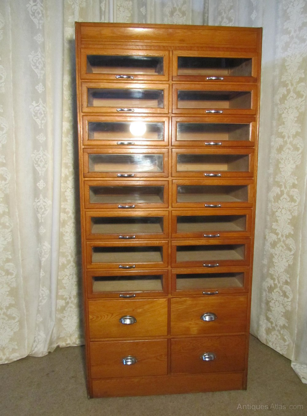 Art Deco Tall Haberdashery Cabinet, Shop Fitting ...