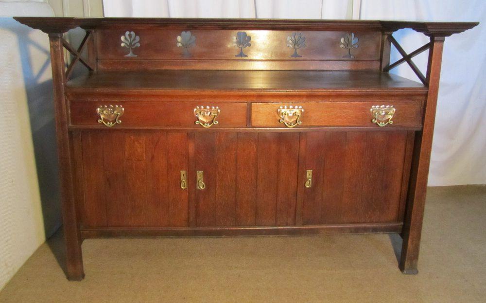 Arts Crafts Oak Sideboard Or Dining Room Dresser Antique Sideboards