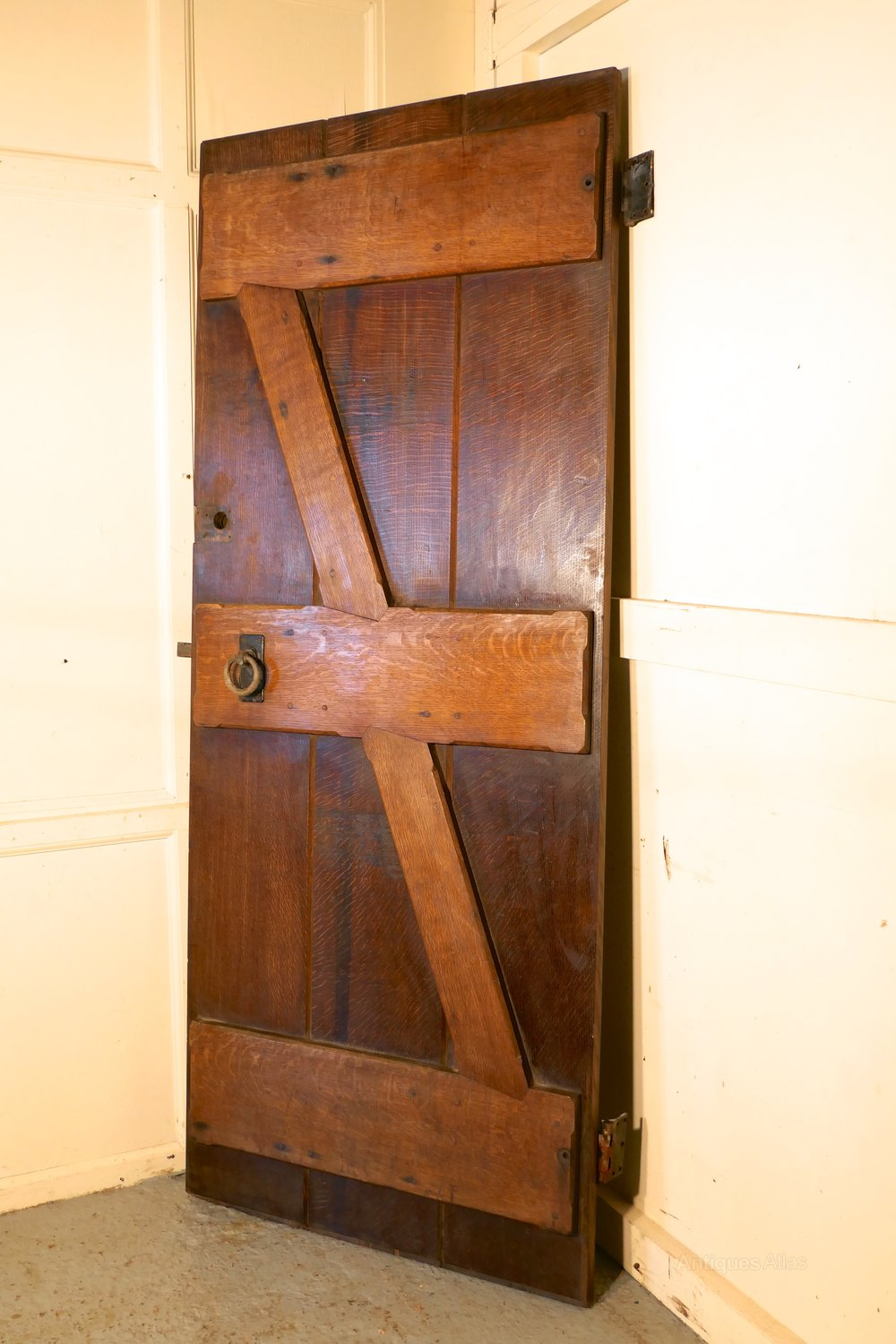 Antiques atlas arts and crafts oak plank door with iron for Arts and crafts door