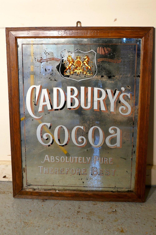 Antiques Atlas Cadbury S Cocoa Advertising Mirror Queen