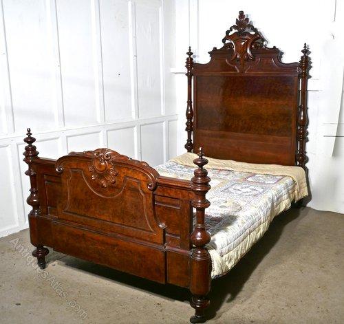 Channel Islands Burr Walnut Large Single Bed Antiques Atlas