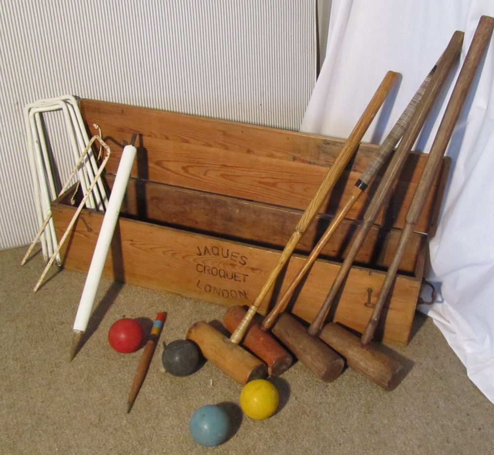 Antiques Atlas Charming Victorian Croquet Set By Jaques Pine Box