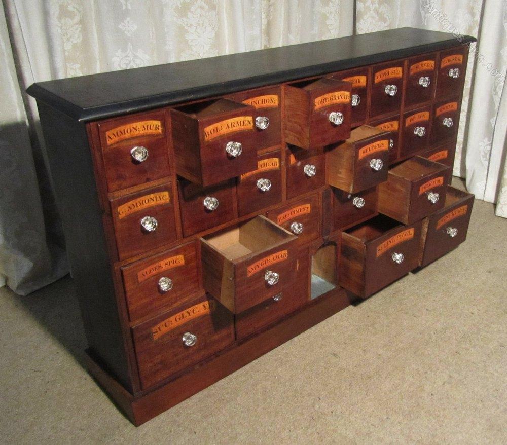 Chemist Drawers 26 Drawer Pharmacists Cabinet Antique Specimen Chests - Chemist Drawers 26 Drawer Pharmacists Cabinet - Antiques Atlas
