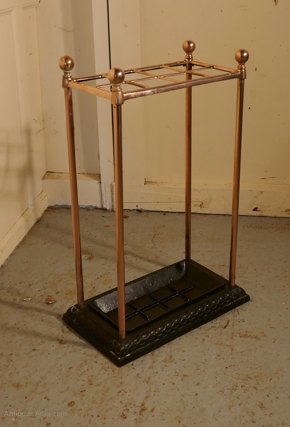 Copper Amp Iron Walking Stick Stand Umbrella Stand