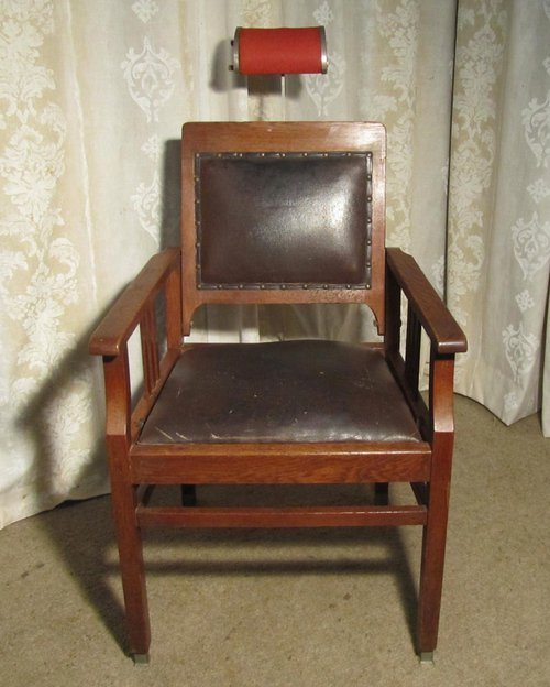 Antique Wooden Barber Chair - Antique Wooden Barber Chair Antique Furniture