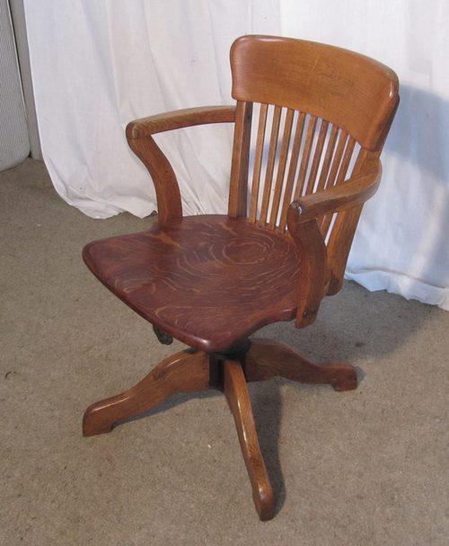 - Edwardian Oak Office Or Desk Chair - Antiques Atlas