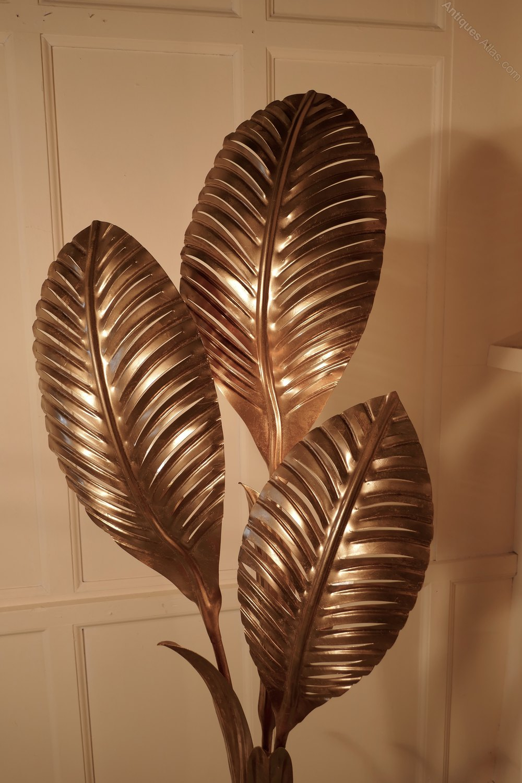 Antiques Atlas French Art Deco Gold Palm Leaf Floor Lamp