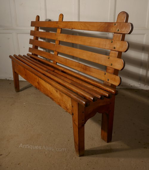 French Cherrywood Bench Seat Antiques Atlas