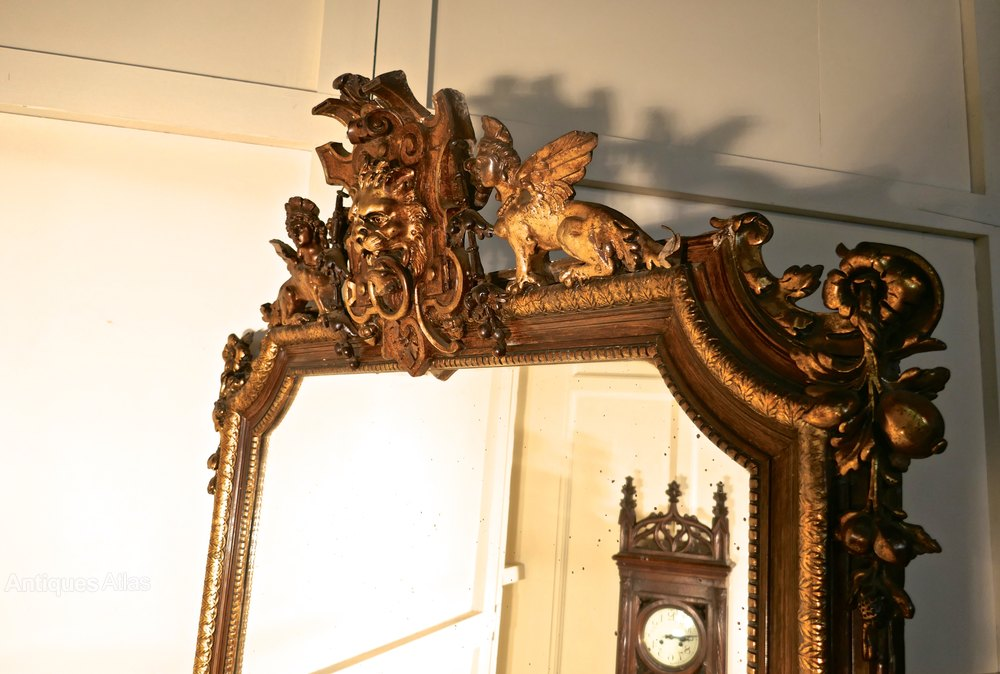 Antiques Atlas French Mirror Winged Sphinx And Lyons