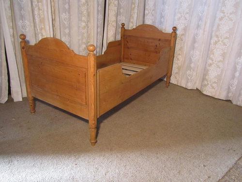 French Single Pine Sleigh Bed Lit Bateau Antiques Atlas