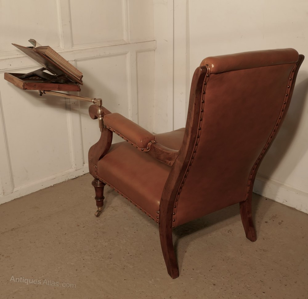 Gentleman's Library Chair with Reading Stand Antique Reading Chairs - Gentleman's Library Chair With Reading Stand - Antiques Atlas
