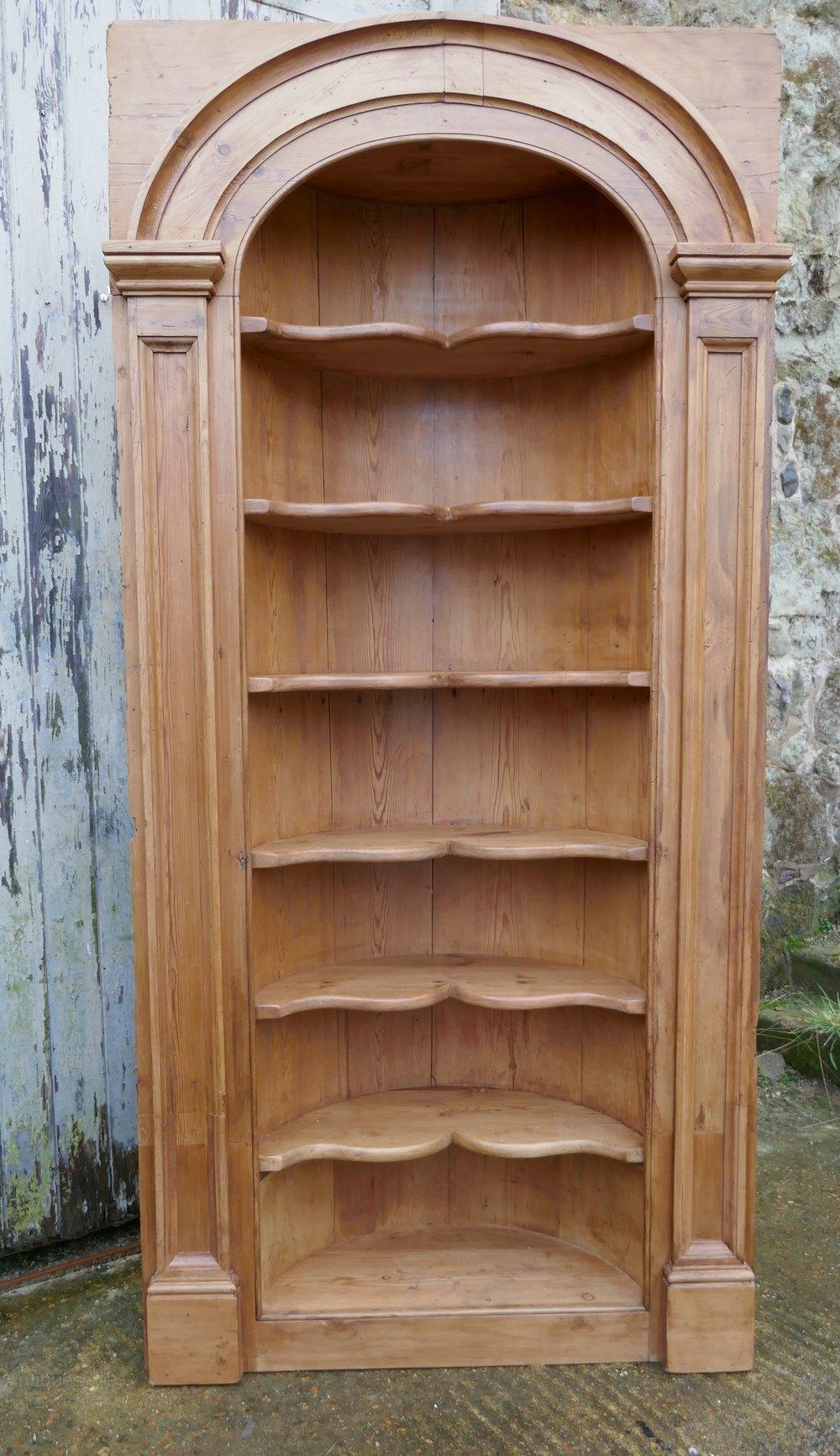 Georgian Pine Alcove Shelf Corner Cupboard Antiques Atlas