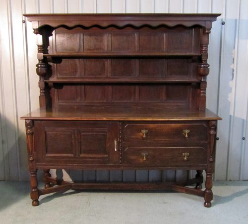 . Gothic Looking Solid Oak Welsh Dresser Gothic Loo   Antiques Atlas