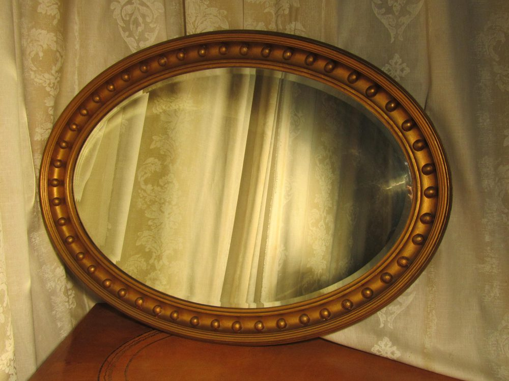 Antiques Atlas - Large Regency Style Oval Gilt Wall Mirror