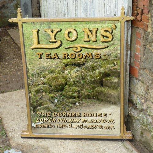 Antiques Atlas Large Victorian Advertising Mirror Lyons