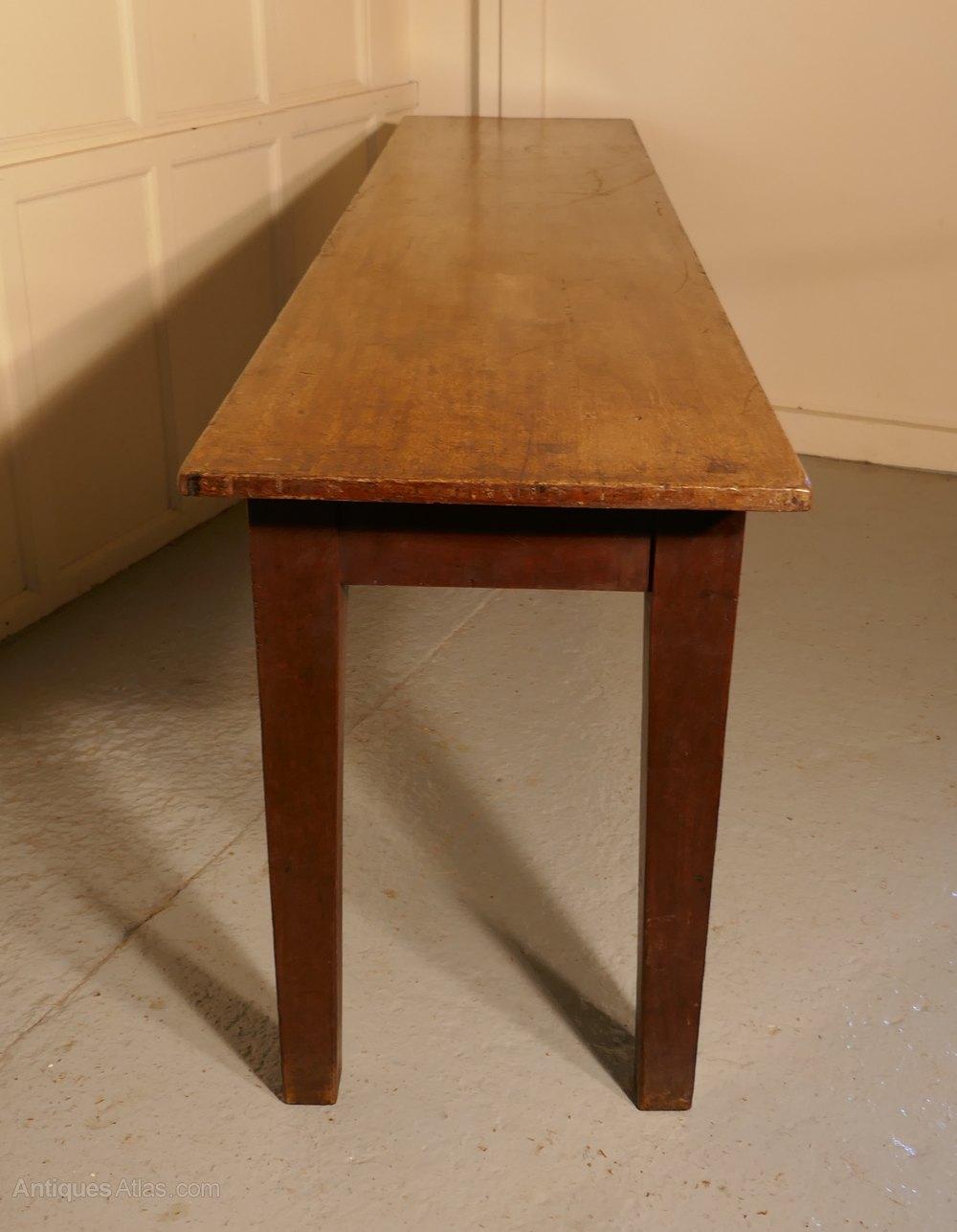 long narrow farmhouse kitchen table antiques atlas. Black Bedroom Furniture Sets. Home Design Ideas
