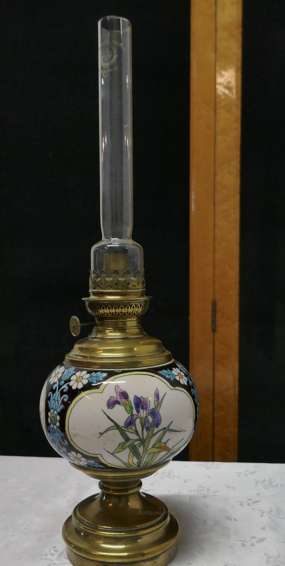 Antiques Atlas Napoleon Iii Ceramic Oil Lamp Decorated With Birds