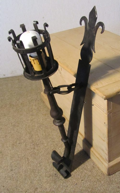 Antiques atlas pair of french gothic iron wall lights torches aloadofball Gallery