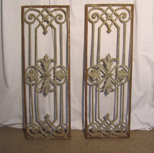 - Antiques Atlas - Pair Of Large Shabby French Cast Iron Door Panels