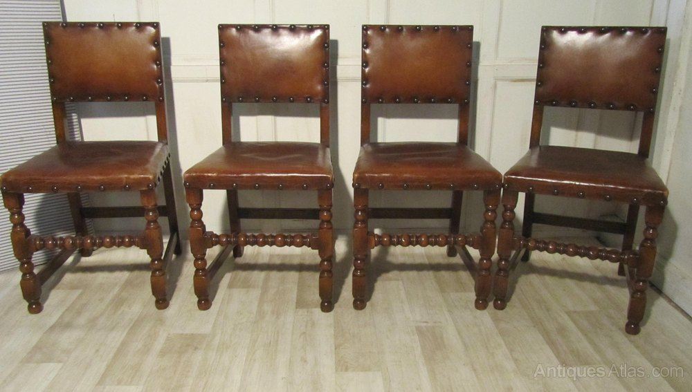 oak and leather dining chairs set of 6 oak and leather dining chairs antiques atlas 7123