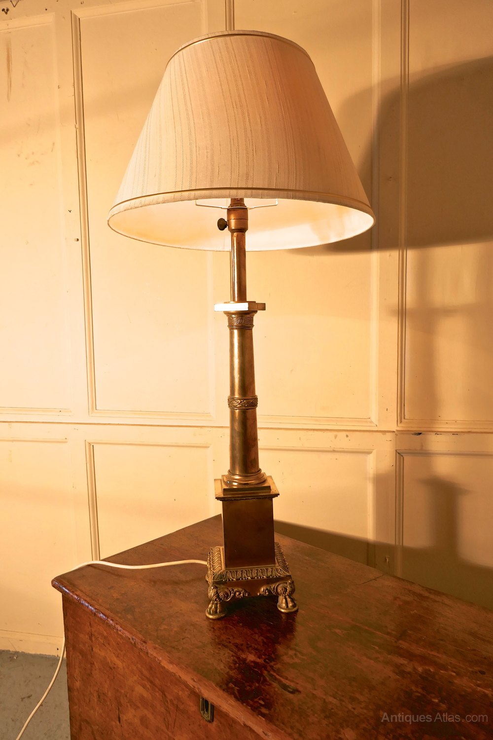 antiques atlas tall brass table lamp. Black Bedroom Furniture Sets. Home Design Ideas