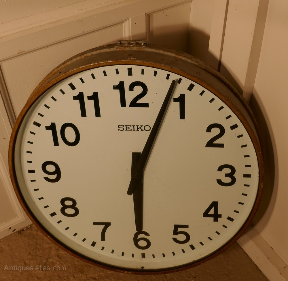 very large seiko industrial wall clock slave clock antique factory wall clocks