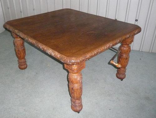 Victorian Carved Golden Oak Extending Dining Table Antiques Atlas