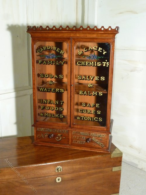 Victorian Mahogany Chemist\'s Or Bathroom Cabinet - Antiques Atlas