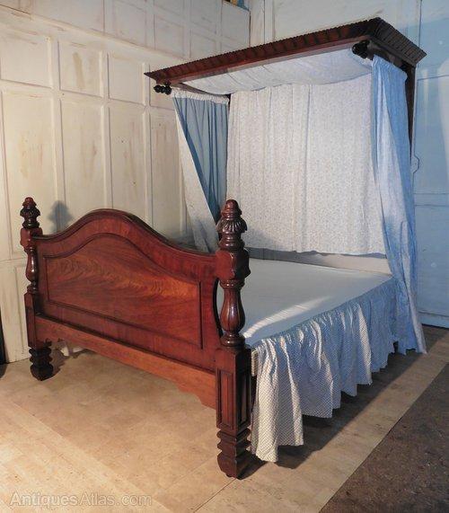 Victorian Mahogany King Size Half Tester Bed Antiques Atlas
