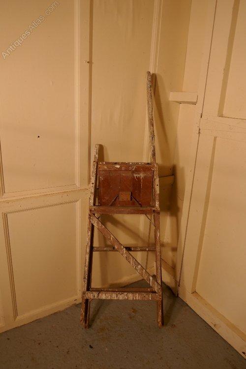 Antiques Atlas Victorian Paint Splattered Step Ladder Or