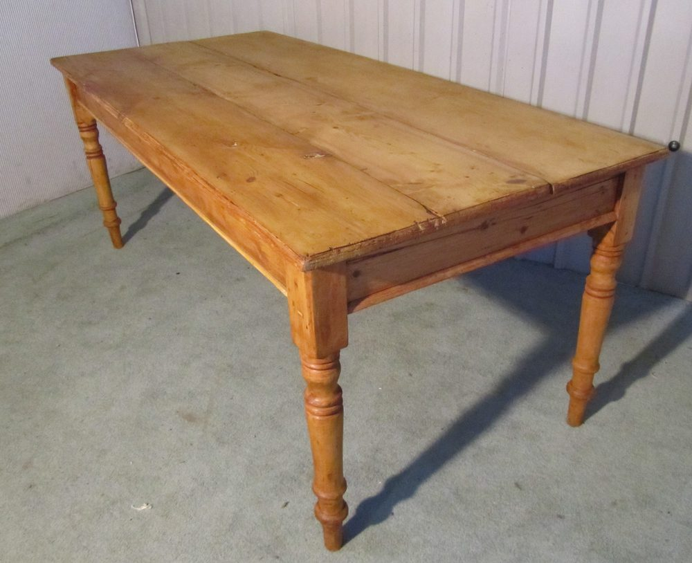 Victorian rustic pine 3 plank kitchen table antiques atlas victorian rustic pine 3 plank kitchen table workwithnaturefo