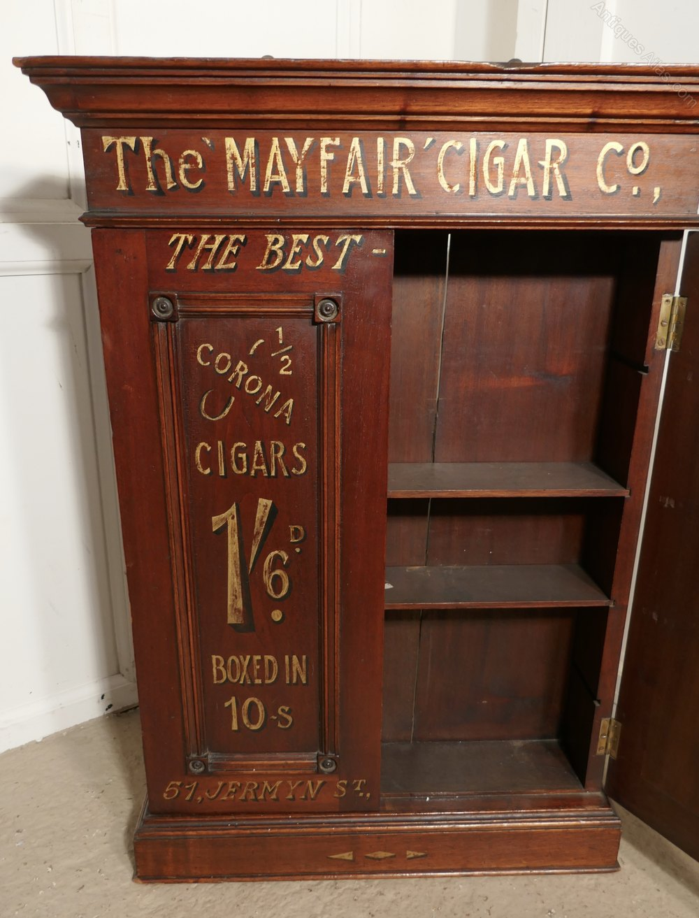 Sign Painted Cigar Cupboard