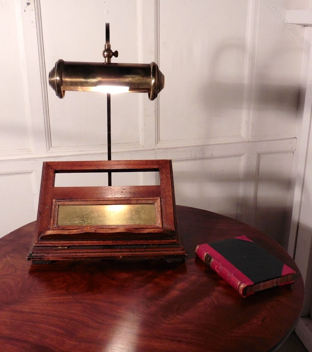 Antiques Atlas Walnut Book Rest Reading Stand Lamp Menu