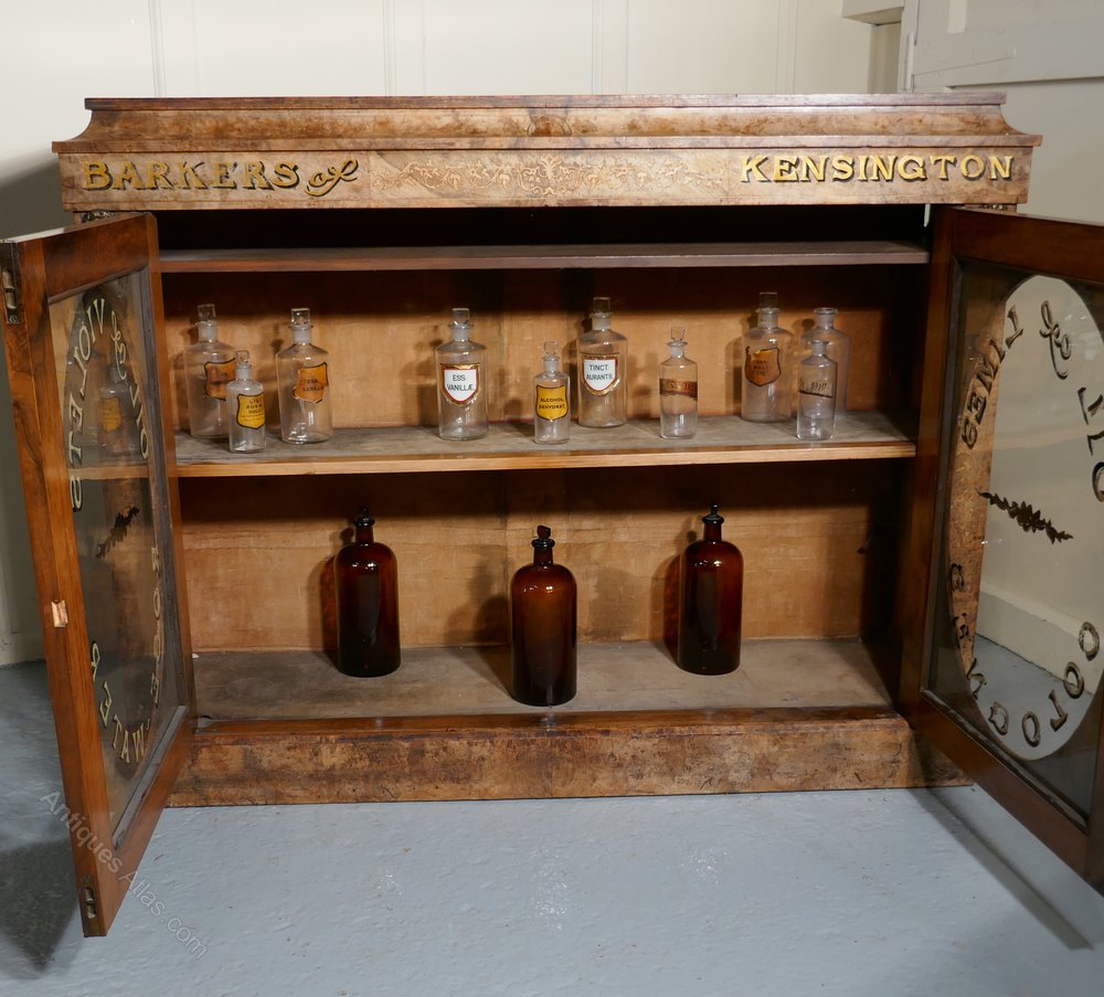 Walnut Perfume Cabinet From Barkers Of Kensington Antique Display Cabinets  %%alt5%% ...