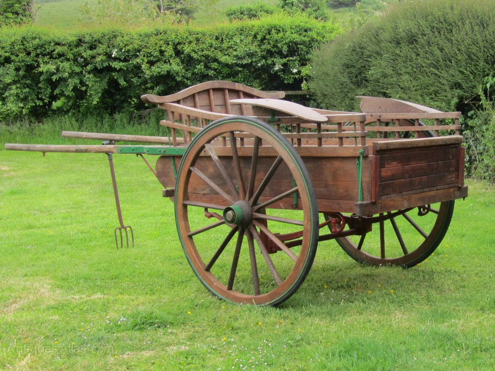 Wooden Horse Drawn Delivery Cart