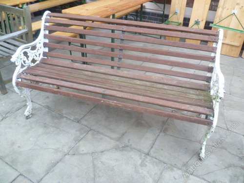 Genial Antique Cast Iron Garden Bench Seat ...