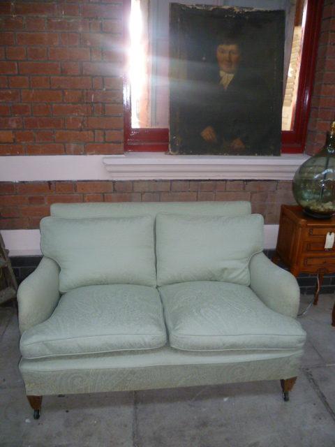 Antique Edwardian Howard Style Two Seater Sofa ...