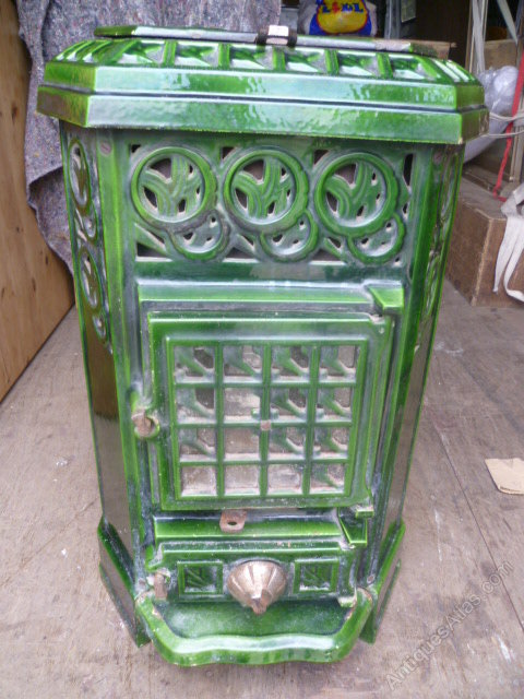 Antiques Atlas Antique Enamel Wood Burning Stove
