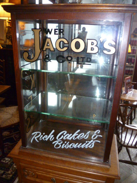 Antique Mahogany Cake Shop Display Cabinet ... - ANTIQUE MAHOGANY CAKE SHOP DISPLAY CABINET - Antiques Atlas